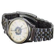 Vintage Rare Chicago Police Bulova Swiss Men's Wrist Watch