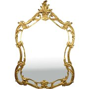 Vintage Italian Gilt Wood Wall Mirror Paoletti Brothers Florence