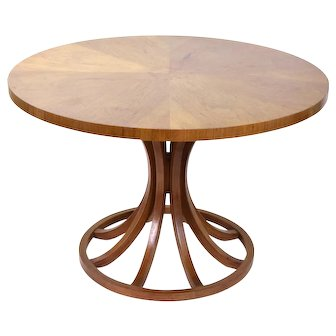 Vintage Mid-Century Modern Dining Occasional table Sheaf Of Wheat Dunbar Style