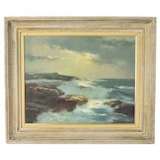 "Harry Russell Ballinger 1969 Painting ""Andrews Point"" Massachusetts Seascape"