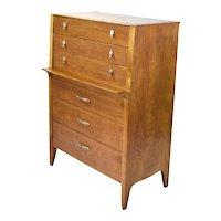 Vintage Mid-Century Modern Highboy Dresser John Van Koert for Drexel