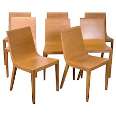 Set of 8 Modern RDL Oak Dining Chairs by Lievore Altherr Molina for Andreu World