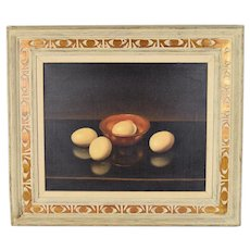 1960's Realist Still Life Painting Eggs Alfred Jackson Chicago African American Artist