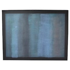 1979 Robert Natkin Abstract Expressionist L/E Lithograph Black Paper Sgnd 14