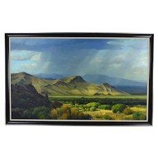 David Caton #3 Virga over Chisos Mountains Big Bend Texas Hill Country Artist