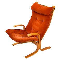 Vintage Mid-Century Modern Bentwood Armchair Lounge Westnofa Siesta Style