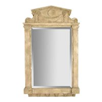 Vintage Sculptural Neoclassical Architectural Wall Mirror