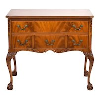 Vintage Carved Mahogany Chippendale Console Table Hall Cabinet Chest