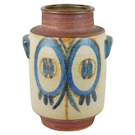 Large Soholm Danish Modern Art Pottery Double Handled Floor Vase