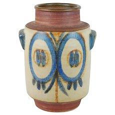 Large Soholm Danish Modern Art Pottery Double Handled Floor Vase