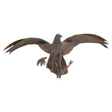 Vintage Symbolic American Bald Eagle Pieced Steel Sculpture