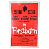 Orig Broadway Window Card The Firstborn Katharine Cornell Roddy McDowall