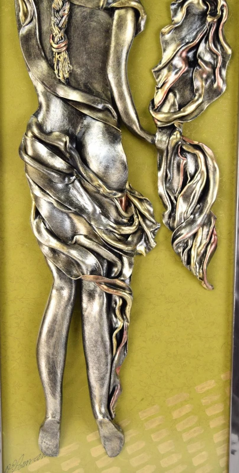 Original Bas-Relief Wall Sculpture Woman with Shawl Orna Amrani ...