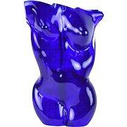 Karen Naylor Art Glass Sculpture Woman's Blue Nude Torso