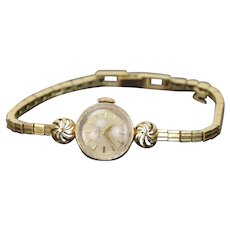 Vintage Mid-Century Modern Omega Cocktail Watch 14k Solid Gold Women's