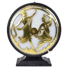 """1920's Vintage Stewart Warner Art Deco """"Dancing Ladies"""" Table Lamp"""