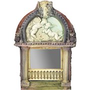 Vintage Marc Sijan Ceramic Mirror Cherubs Neoclassical Architectural Artifacts
