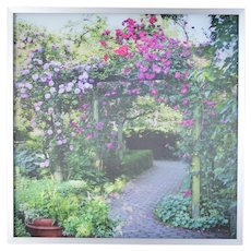 """Michael J. Brown Lenticular Optical Art """"The Arbor"""" Winter and Spring"""
