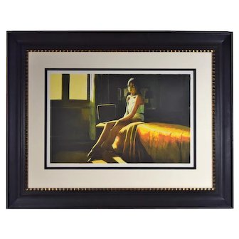 """Ramon Lombarte """"At the Ritz"""" Hand Signed Lithograph Limited Edition"""