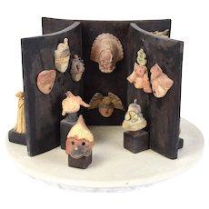 Melissa Zink Art Pottery Sculpture Exhibition of Fantasy Cultural Artifacts Masks