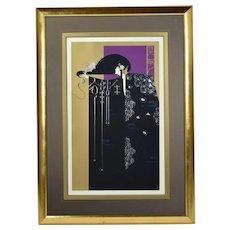 "Lillian Shao ""The Gold Threaded Robe"" Art Nouveau Art Deco L/E Lithograph signed"
