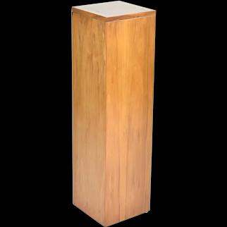 Vintage Mid Century Modern Monolithic Teak Pedestal Plant Stand