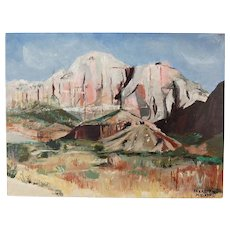 Vintage Impressionist Painting Desert Southwest United States Signed Hodapp