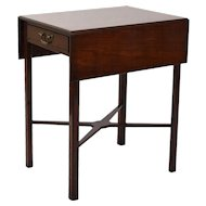 Vintage Mahogany Pembroke Drop Leaf Table with X-Form Stretcher