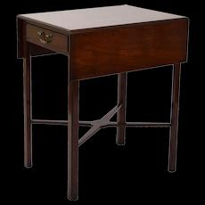 Vintage Mahogany Pembroke Drop Leaf Table with X-Form Stretcher