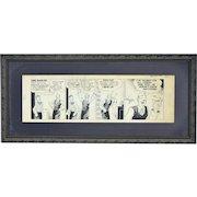 "1949 Stanley Link Original Comic Strip Art ""The Dailys"""