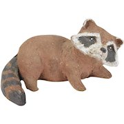 Dorothy Hobbs Boehm Art Pottery Sculpture Raccoon Pup Lake Forest IL