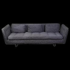 Vintage Mid-Century Modern Dunbar Open Arm Bracket Back Sofa by Wormley
