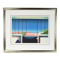 "Vintage 1980's Teddy Radko Limited Edition Architectural Lithograph ""Mezzanine"""