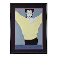 "Iconic 1980's Patrick Nagel ""Commemorative #8"" Serigraph Professionally Framed"