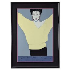"Iconic 1980's Patrick Nagel ""Commemorative #8"" Serigraph Professionally Framed"