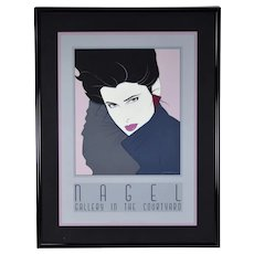 "Iconic 1980's Patrick Nagel ""Commemorative #7"" Serigraph Professionally Framed"
