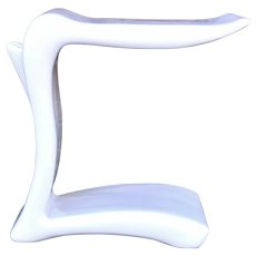 Vintage Modern Biomorphic Artist Made White Lacquer Cantilever Table