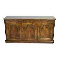 Vintage Baker Furniture Co. Carved Walnut Buffet Sideboard Cabinet