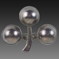 Early Hector Aguilar 1943-1948 Mexican Modernist Silver Brooch