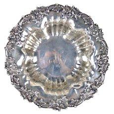 Graff Washbourne & Dunn Art Nouveau Sterling Silver Serving Bowl Monogrammed H