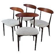 Set 4 Vintage Mid Century Danish Modern Dining Chairs by Kurt Ostervig