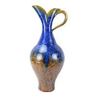 Elliott Newton Handled Ewer Pitcher Porcelain Clay Pottery Crystalline Glaze