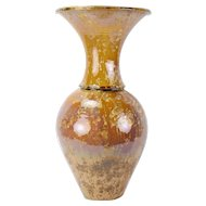 Elliott Newton Baluster Vase Flared Rim Porcelain Clay Pottery Crystalline Glaze