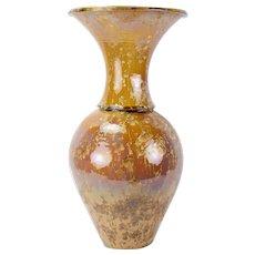 Elliott Newton Baluster Vase Flared Rim Porcelain Clay Pottery Crystalline Glaze