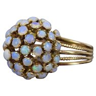 Vintage Estate Solid 10k Gold Opal Cabochon Dome or Sphere Ring