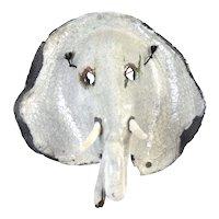 Vintage Surrealist Pottery Elephant Mask Wall Sculpture John Allen