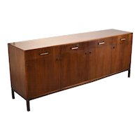 Beautiful Mid-Century Modern Figured Walnut Sideboard Attributed to Founders