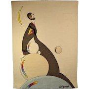 Circa 1970's Burt Groedel for Edward Fields Supreme Highness Carpet Tapestry