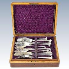 Wilkinson English Victorian Flatware Fish Service Fitted Presentation Box