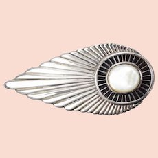 1980's Erté  Erte Plume sterling Silver Art Deco Belt Buckle Limited Edition 100/125